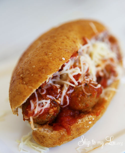 spicy meatball sub sandwich