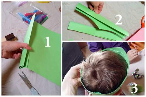 steps for making a paper crown