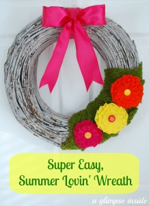 summer loving wreath- labeled