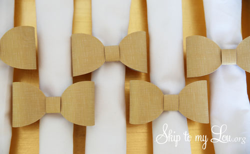 Bow napkin rings with Cricut
