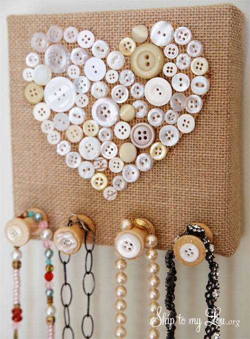 Burlap Jewelry Holder