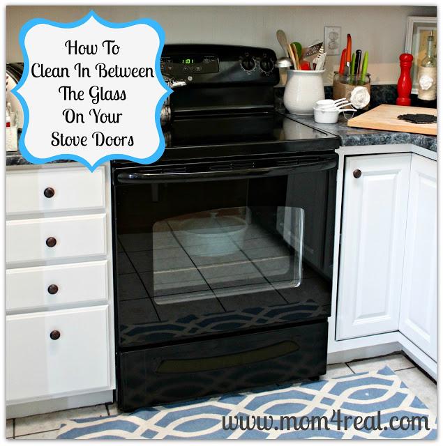 Clean in between glass on oven doors