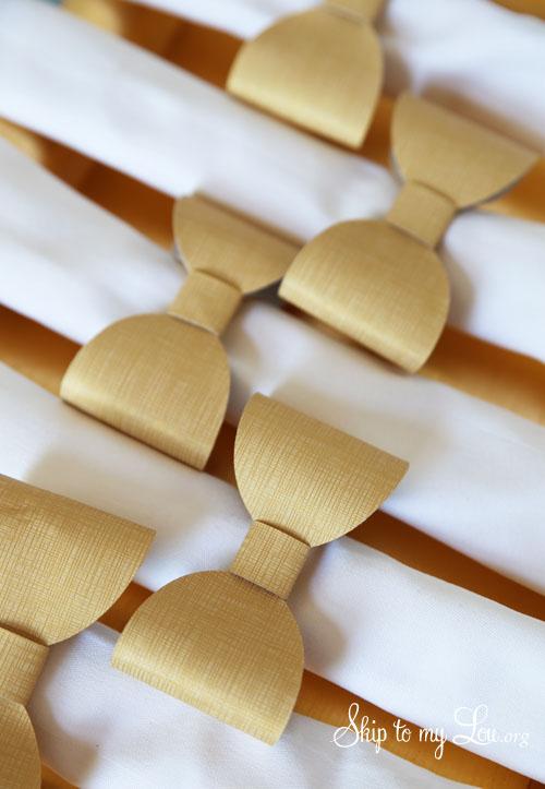 DIY Bow napkin rings skiptomylou cricut