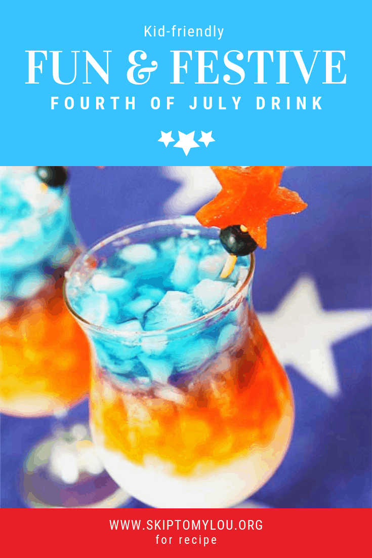 red white blue drink