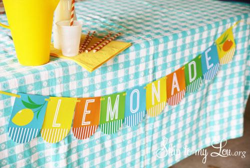 Free lemonade stand printable bunting