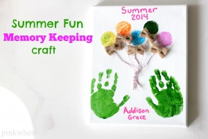Summer Fun Memory Keeping Craft for Skip to My Lou by PinkWhen