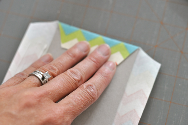 covered chipboard book tutorial