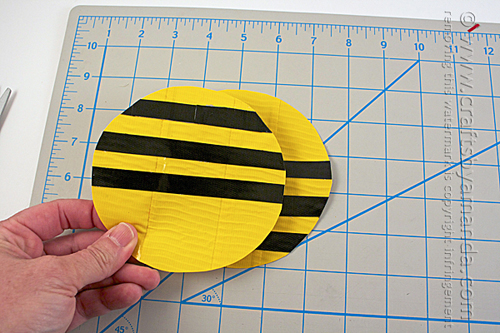 Duct Tape Spinning Garden Bee by Amanda Formaro