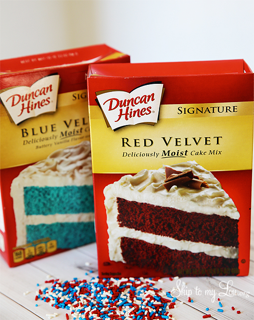 Duncan Hines Red And Blue Velvet Cake
