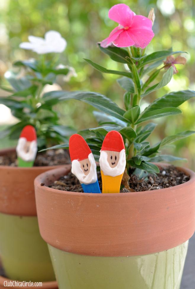 Garden Gnome Craft Sticks DIY | Skip To My Lou