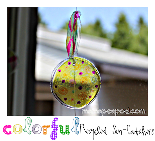 recycled sharpie sun catchers