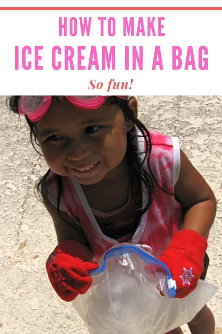 icre cream in a bag