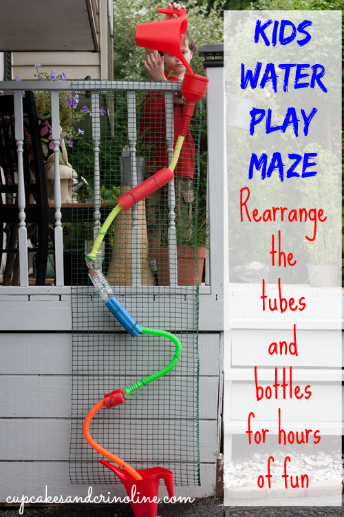 Easy and fun to make water maze for kids ~ rearrange the bottles and tubes in different configurations.