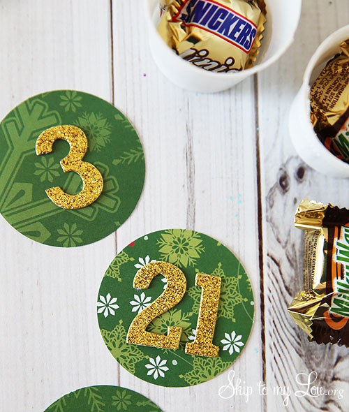 recycled advent calendar numbers