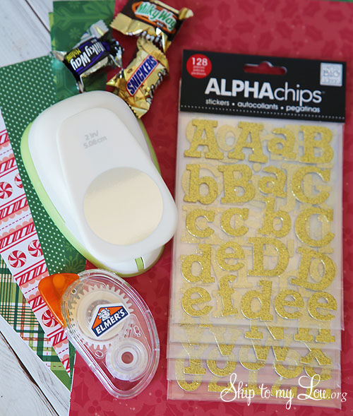 recycled advent calendar supplies