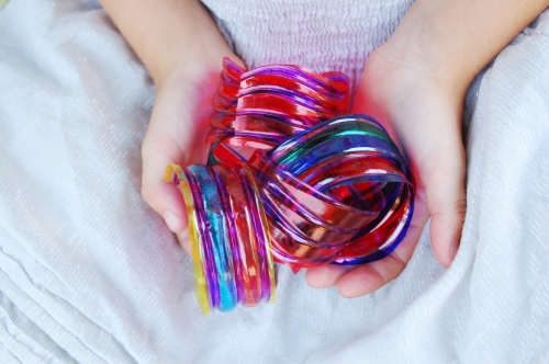 Water Bottle Bangles for kids to make