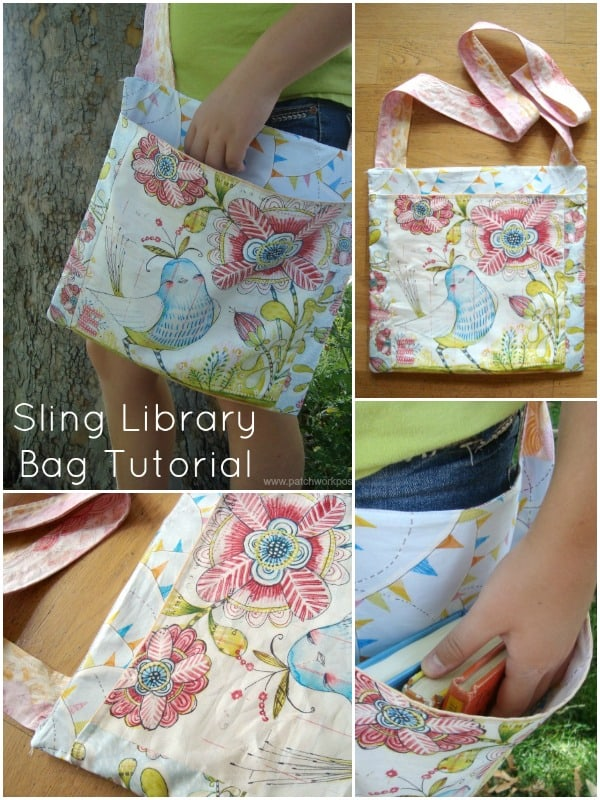 Sling Library Bag Tutorial by Patchwork