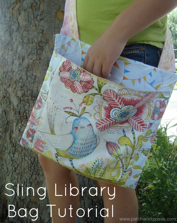 sling library bag tutorial | craft camp