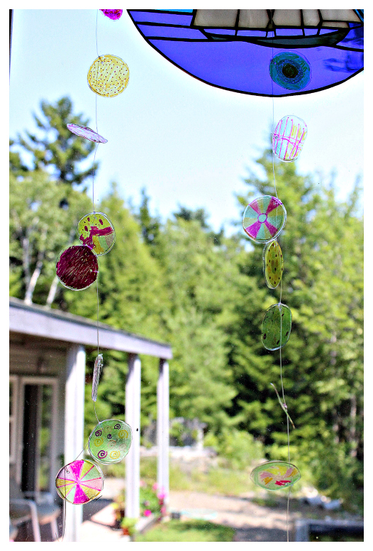 recycled sun catcher garland