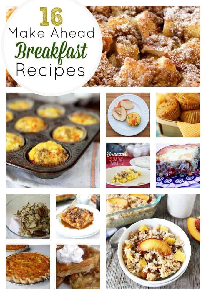 16 Amazing Make Ahead Breakfast Recipes Skip To My Lou
