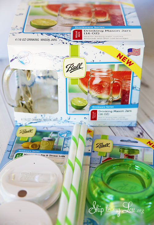 Ball jar drinking glass traw lids ad infuser