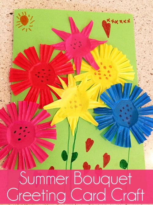 Summer bouquet greeting card craft skip to my lou for Craft supplies for card making
