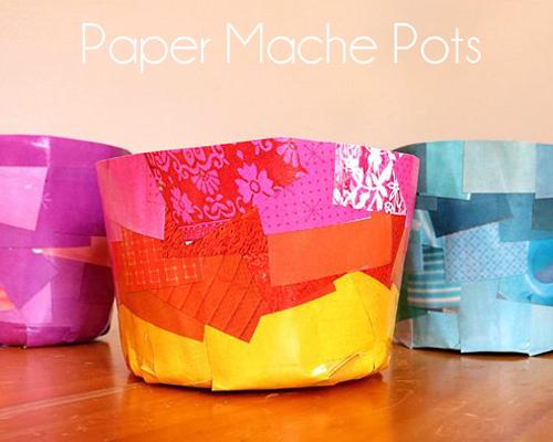 Paper-mache-pots