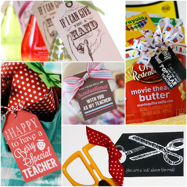 Here Are More Back To School Gift Ideas That Pair A Cute Saying With A  Small Gift. Just Click On The Picture To Find These Free Printables.