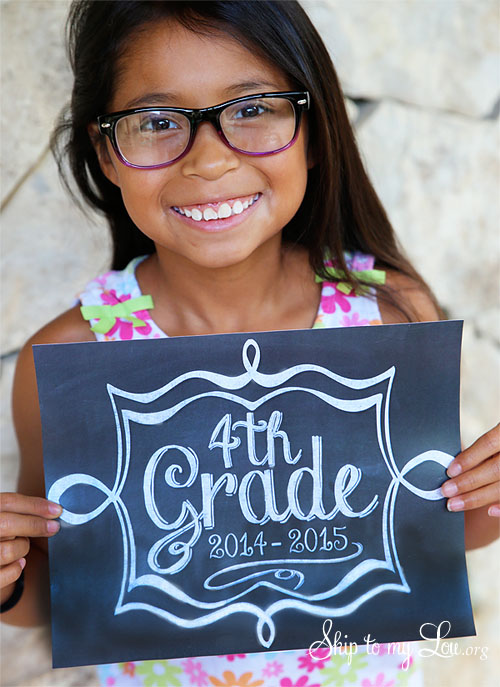 back to school photo signs 2014-2015