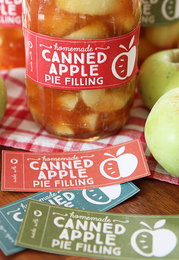 canned apple filling labels