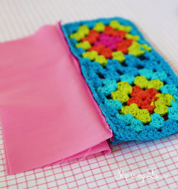 crochet granny square pouch zipper 8
