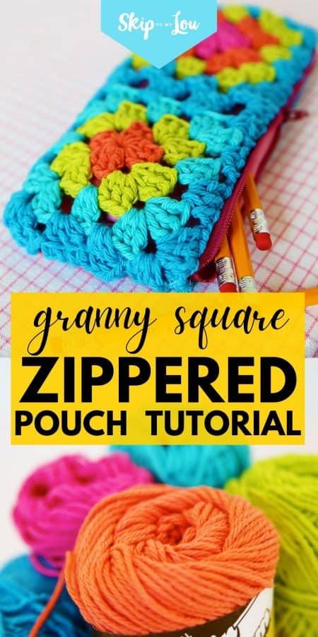 granny square pouch PIN