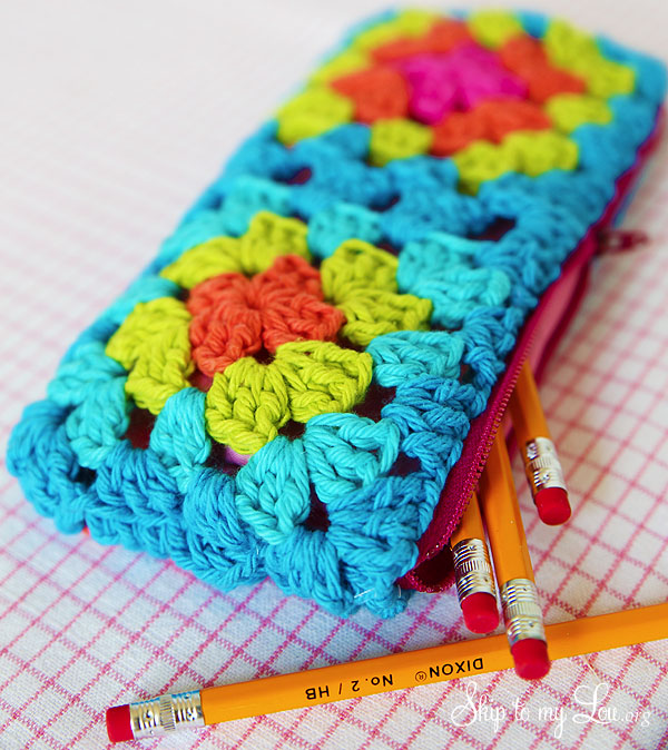 Crochet Granny Square Zippered Pouch Tutorial Skip To My Lou