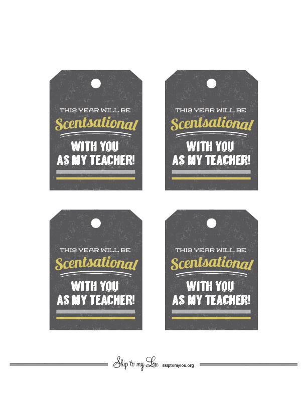 Printable Back to school tags
