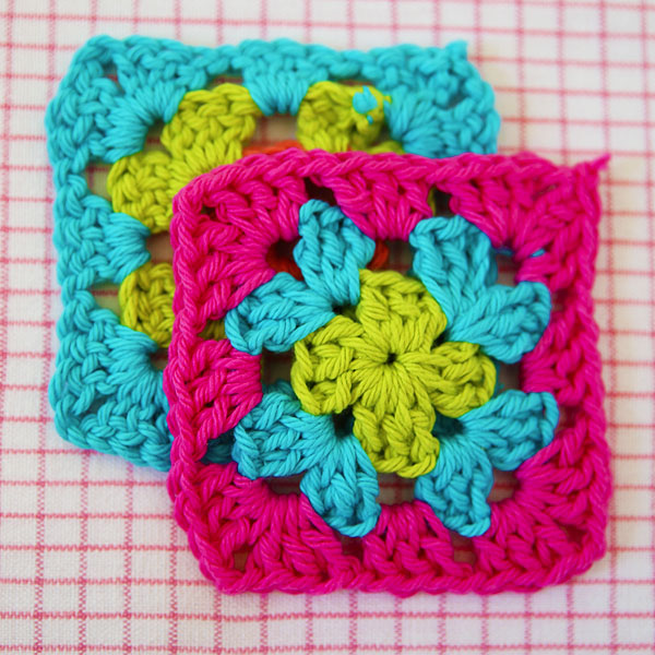 how to join granny squares step 1
