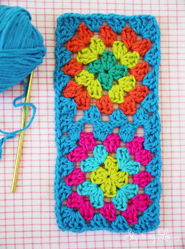 how to join granny squares step 6