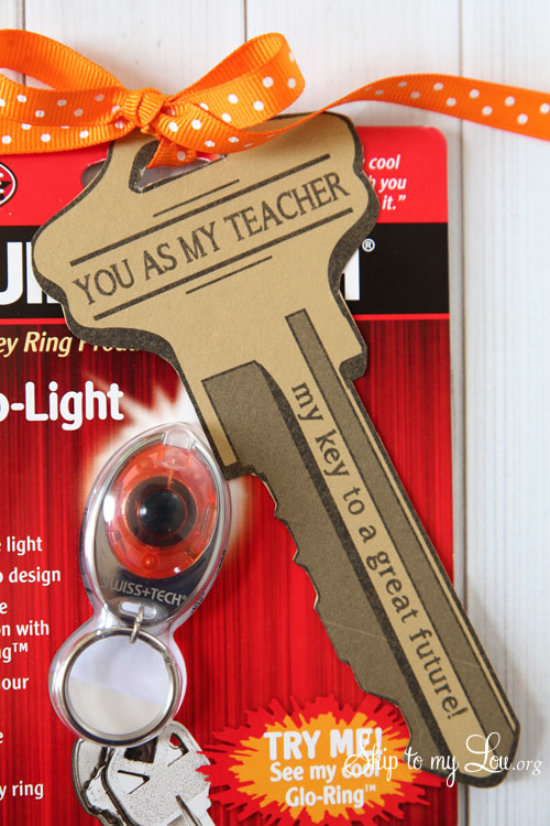 key ring back to school teacher gift