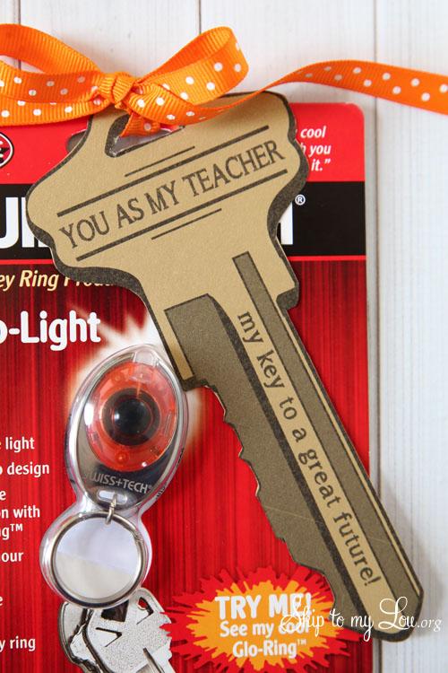 key ring back to school teacher gift