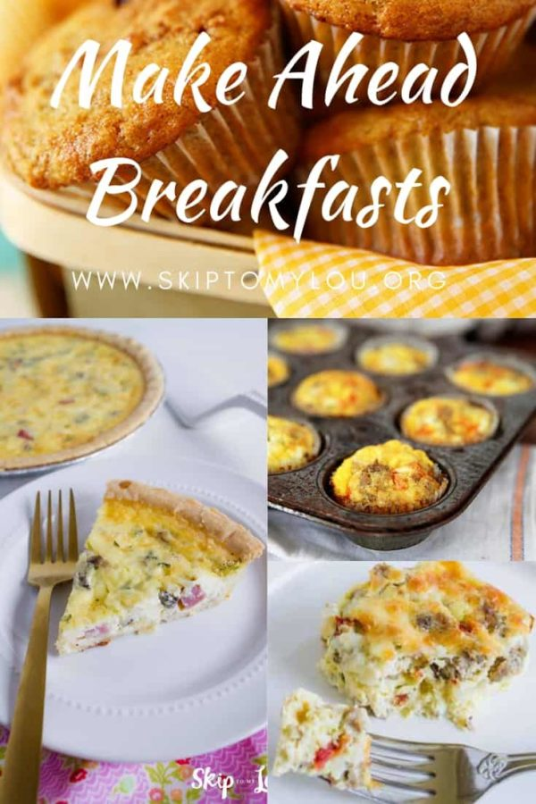 make ahead breakfasts Pinterest Graphic