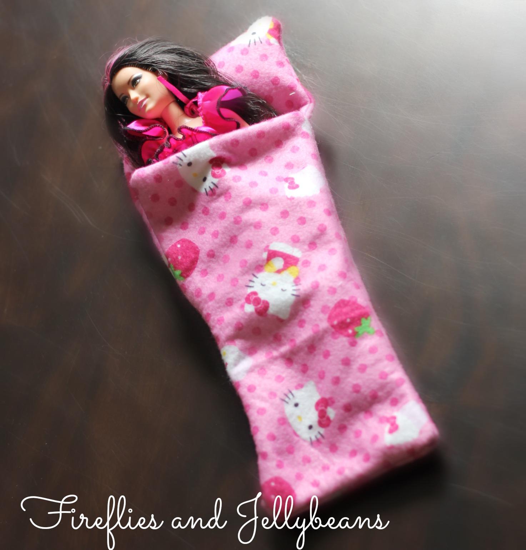 Easy Diy Barbie Doll Sleeping Bag Tutorial Skip To My Lou