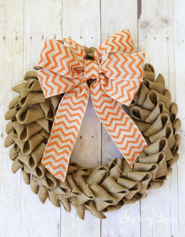 Burlap Wreath Tutorial Skip To My Lou
