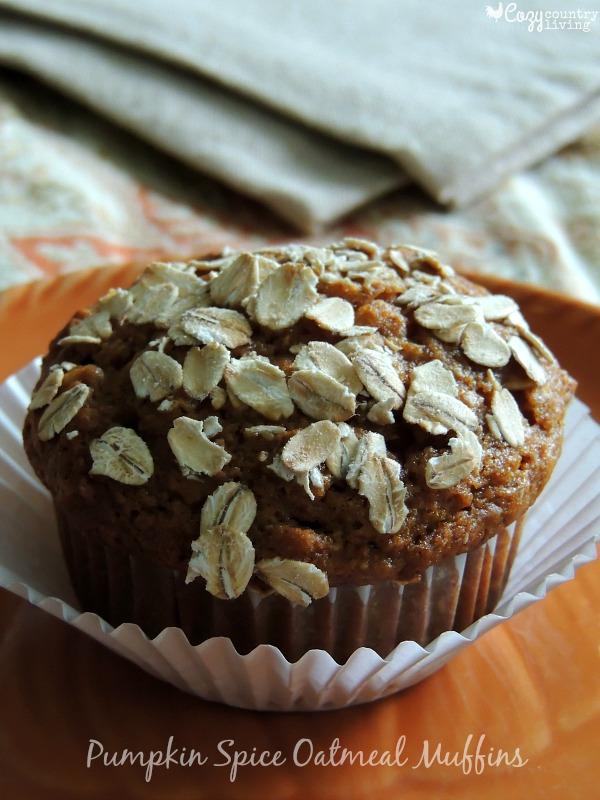 Pumpkin-Spice-Oatmeal-Muffins
