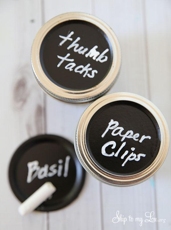 chalkboard canning jar lids