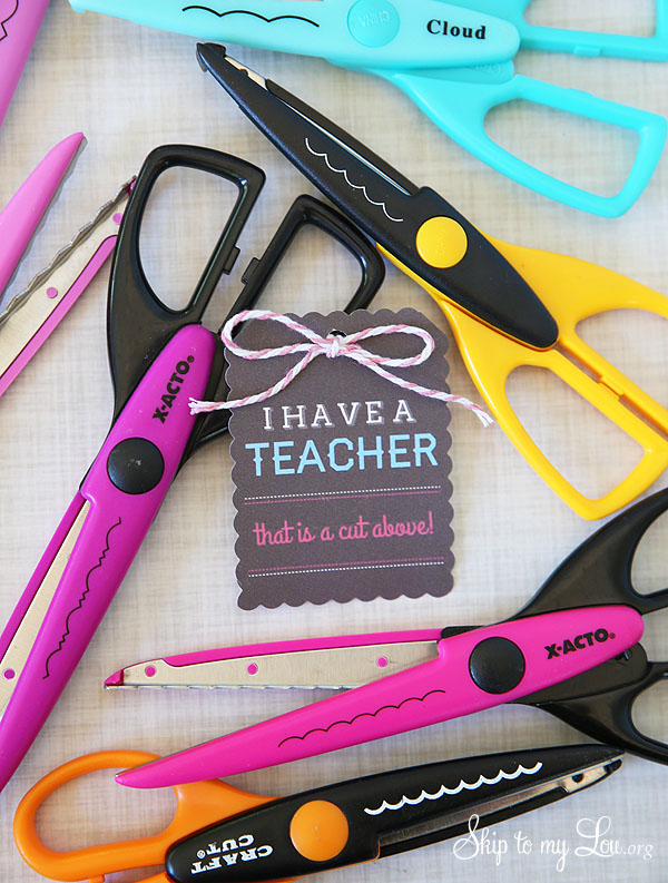 cut above teacher gift idea
