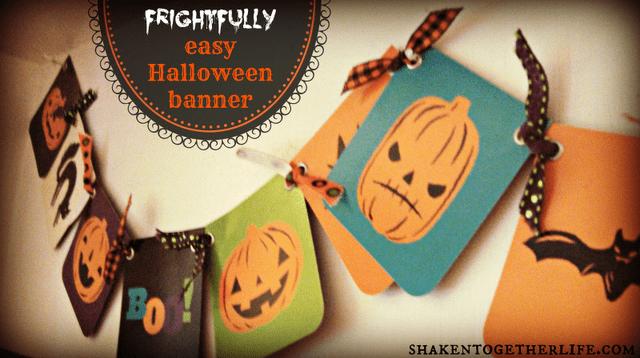 Frightfully easy Jack-O-Lantern Halloween Banner DIY Halloween Decoration