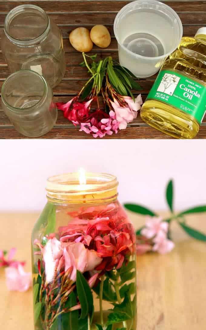 mason jar oil lanterns