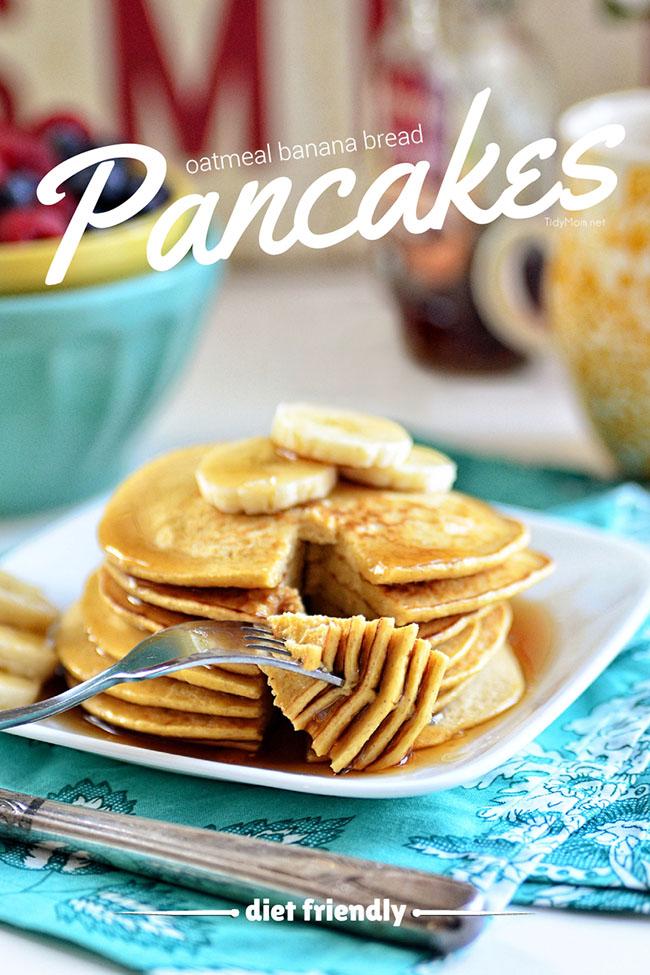 Atmeal Banana Bread Pancakes