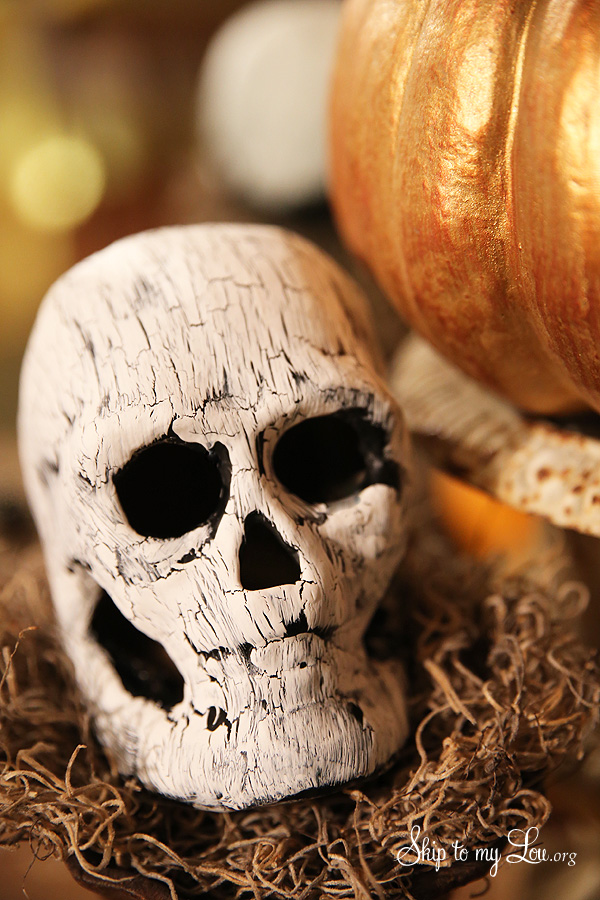 DIY Crackle Finish Skull