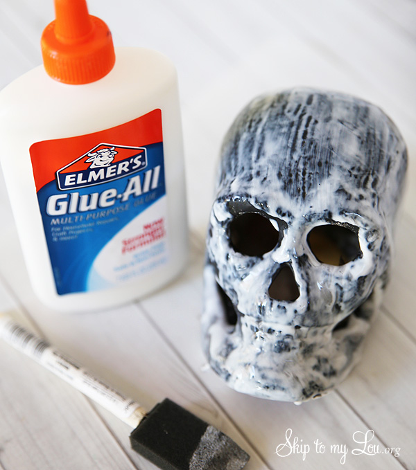 DIY Crackle Finish with Elmers Glue