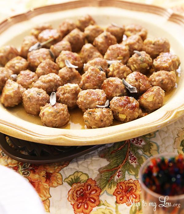 Maple-Apple-Glazed Breakfast Meatball Recipe